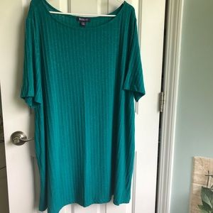 Teal tunic shirt dress
